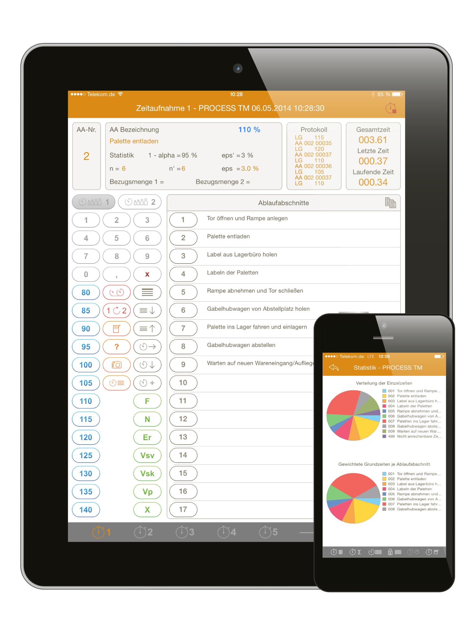 PROCESS TM app | Zeitaufnahme mit iPad